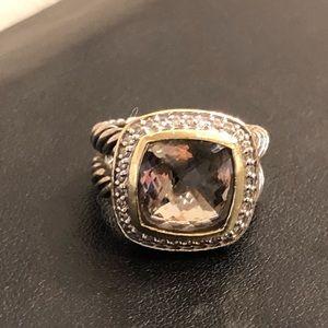 David Yurman Smoky Quartz and Diamond Albion Ring